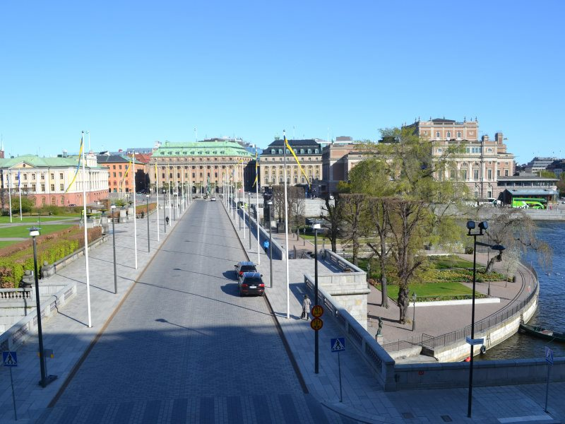 Вид от дворца Стокгольм